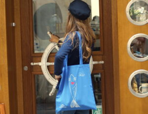 """Tote Bag """" La Frétillante """" Bleu"""